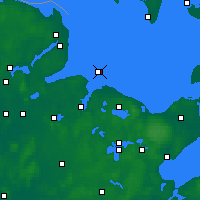 Nearby Forecast Locations - Bay of Kiel - Mapa