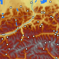 Nearby Forecast Locations - Wildschönau - Mapa