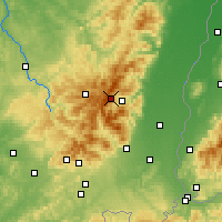 Nearby Forecast Locations - Vogézy - Mapa