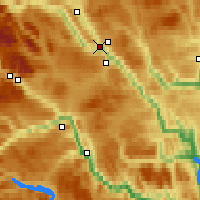 Nearby Forecast Locations - Fagernes - Mapa