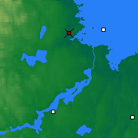 Nearby Forecast Locations - Gävle - Mapa