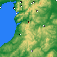 Nearby Forecast Locations - Machynlleth - Mapa
