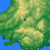 Nearby Forecast Locations - Cambrian Mountains - Mapa