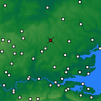 Nearby Forecast Locations - Letiště London Stansted - Mapa