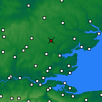 Nearby Forecast Locations - Braintree - Mapa