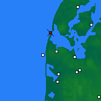 Nearby Forecast Locations - Thyborøn - Mapa