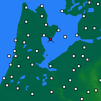 Nearby Forecast Locations - Wijdenes - Mapa