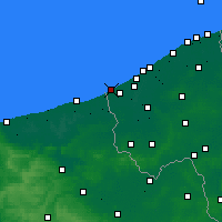 Nearby Forecast Locations - De Panne - Mapa