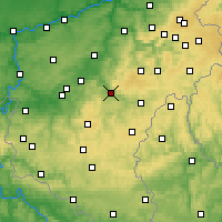 Nearby Forecast Locations - La Roche-en-Ardenne - Mapa
