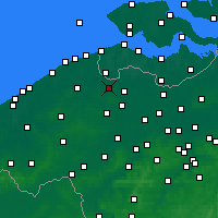 Nearby Forecast Locations - Maldegem - Mapa