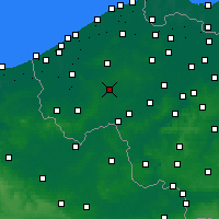 Nearby Forecast Locations - Roeselare - Mapa