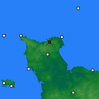 Nearby Forecast Locations - Cherbourg-en-Cotentin - Mapa