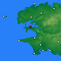 Nearby Forecast Locations - Lanvéoc - Mapa