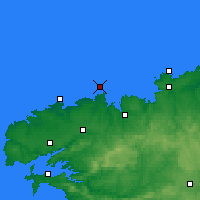 Nearby Forecast Locations - Île de Batz - Mapa