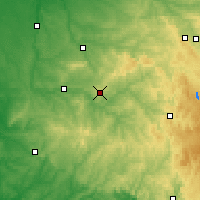 Nearby Forecast Locations - Limoges - Mapa