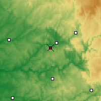 Nearby Forecast Locations - Grèzes - Mapa