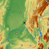 Nearby Forecast Locations - Ambérieu-en-Bugey - Mapa