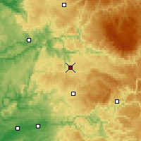 Nearby Forecast Locations - Rodez - Mapa