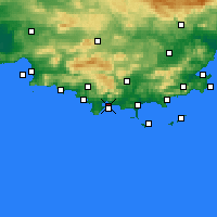 Nearby Forecast Locations - Toulon - Mapa
