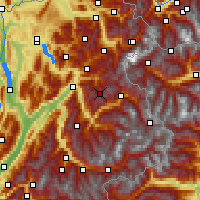 Nearby Forecast Locations - Beaufortain - Mapa