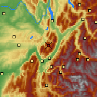 Nearby Forecast Locations - Chartreuse - Mapa