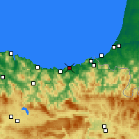 Nearby Forecast Locations - San Sebastián - Mapa