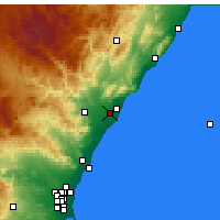 Nearby Forecast Locations - Castellón de la Plana - Mapa