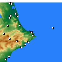 Nearby Forecast Locations - Dénia - Mapa