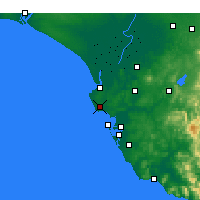 Nearby Forecast Locations - Rota - Mapa