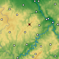 Nearby Forecast Locations - Nürburg - Mapa