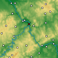 Nearby Forecast Locations - Koblenz - Mapa