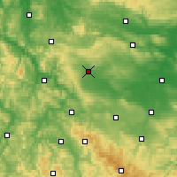Nearby Forecast Locations - Mühlhausen - Mapa