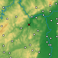 Nearby Forecast Locations - Bad Kreuznach - Mapa