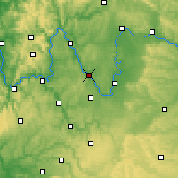 Nearby Forecast Locations - Würzburg - Mapa