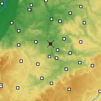 Nearby Forecast Locations - Ludwigsburg - Mapa