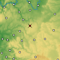 Nearby Forecast Locations - Niederstetten - Mapa
