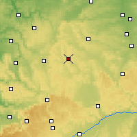 Nearby Forecast Locations - Feuchtwangen - Mapa
