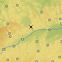 Nearby Forecast Locations - Zemský okres Donau-Ries - Mapa