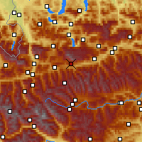 Nearby Forecast Locations - Ramsau am Dachstein - Mapa