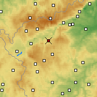Nearby Forecast Locations - Karlovy Vary - Mapa