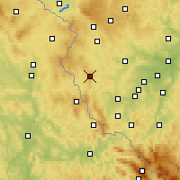 Nearby Forecast Locations - Přimda - Mapa