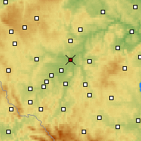 Nearby Forecast Locations - Plzeň - Mapa