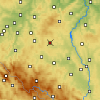Nearby Forecast Locations - Kocelovice - Mapa
