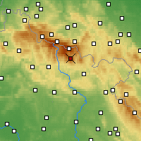 Nearby Forecast Locations - Krkonoše - Mapa