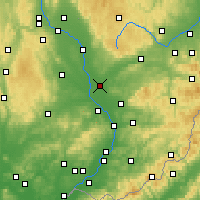 Nearby Forecast Locations - Přerov - Mapa