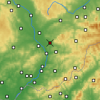 Nearby Forecast Locations - Holešov - Mapa