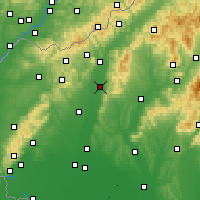 Nearby Forecast Locations - Piešťany - Mapa