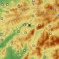 Nearby Forecast Locations - Žilina - Mapa