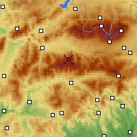 Nearby Forecast Locations - Chopok - Mapa