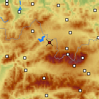 Nearby Forecast Locations - Liesek - Mapa